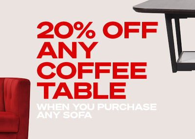 Receive 20% off Coffee Tables with our Sofa Bundles