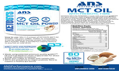 ANS Performance MCT OIL POWDER Unflavored 1lbs