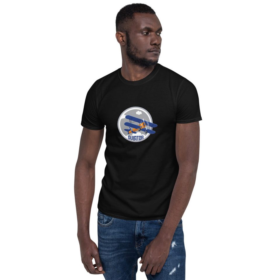 Aviator Bi-Plane Short-Sleeve Unisex T-Shirt