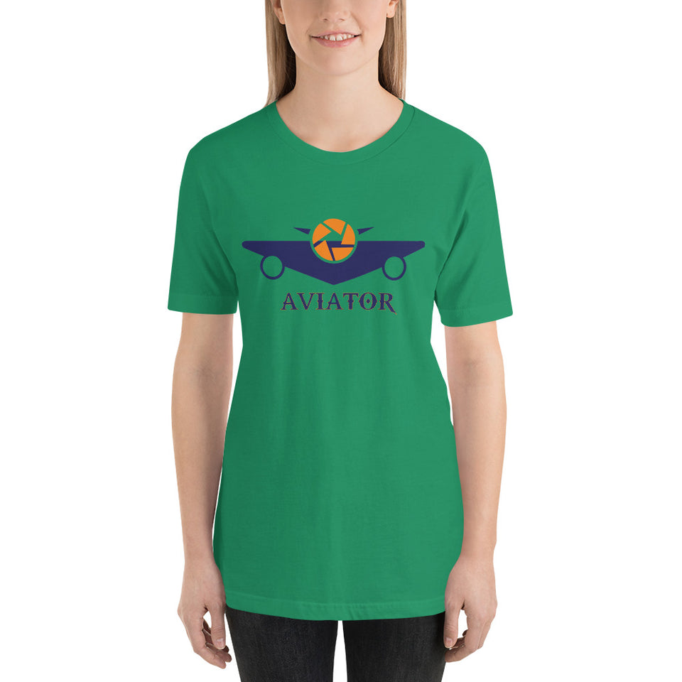 WOMEN'S AVIATOR SHORT-SLEEVE SHOULDER TAPING T-SHIRT