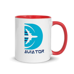 Funkypilot Aviator Colorful Rim Coffee Mug