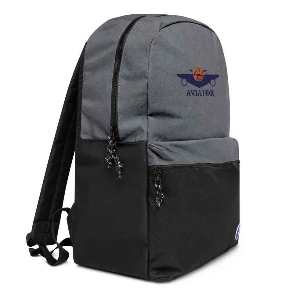 Funkypilot Aviator Embroidered Water Resistant Backpack
