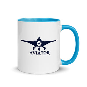 Funkypilot Aviator Color Inside Coffee Mug