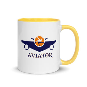 Funkypilot Aviator Coffee Mug with Color Inside
