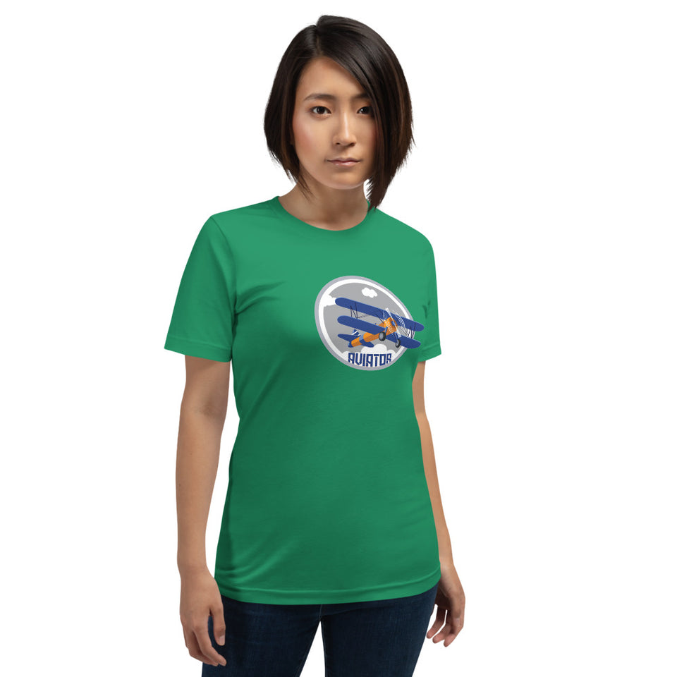 WOMEN'S AVIATOR SHORT-SLEEVE COMBED T-SHIRT