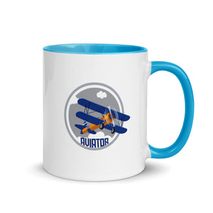 Funkypilot Aviator Mug with Color Inside