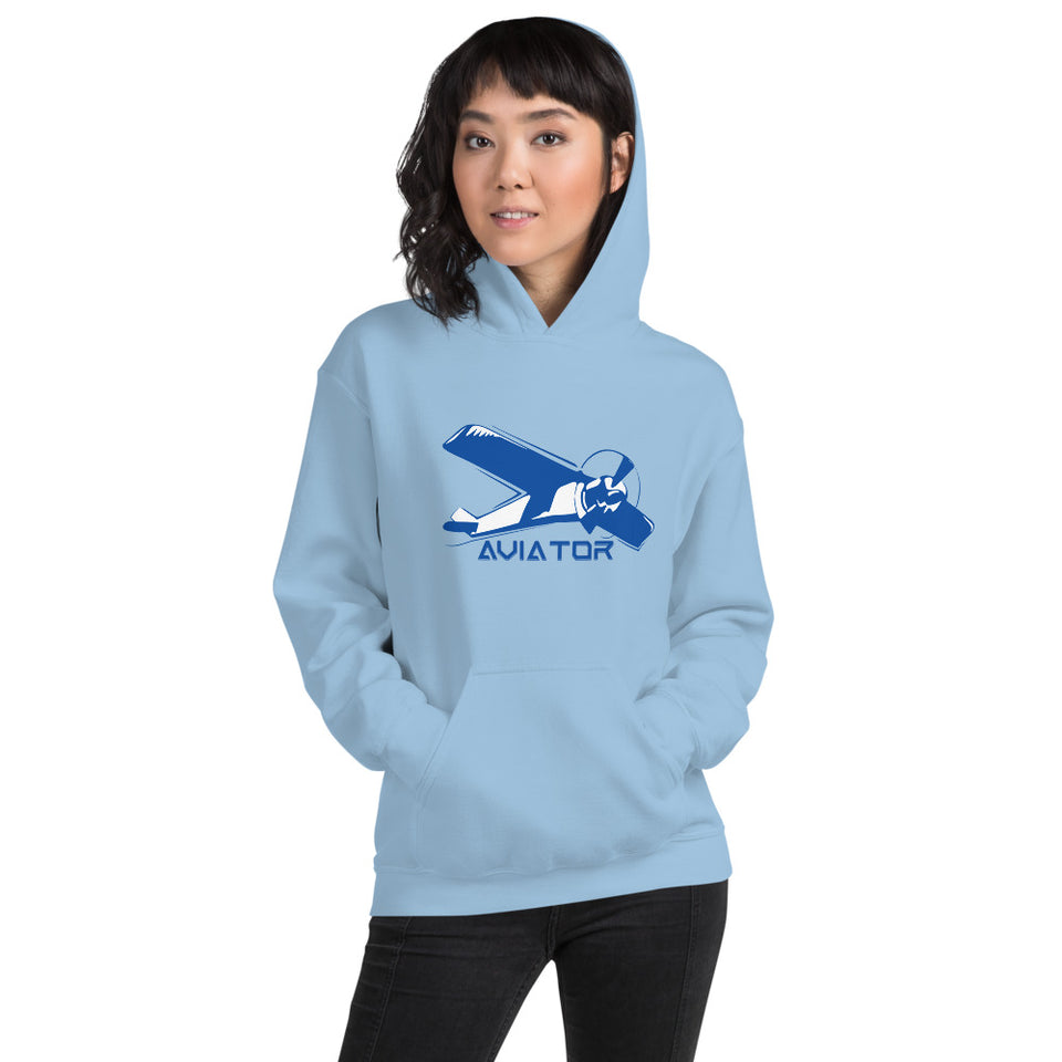 WOMEN'S AVIATOR FRONT POUCH POCKET HOODIE