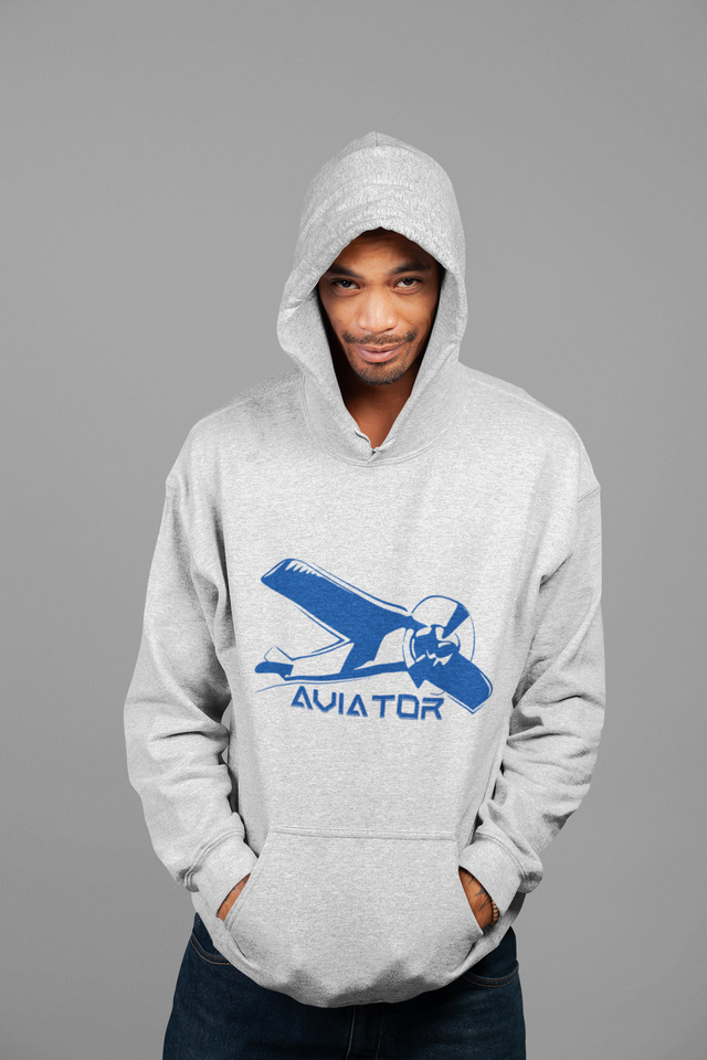 MEN'S AVIATOR FRONT POUCH POCKET HOODIE