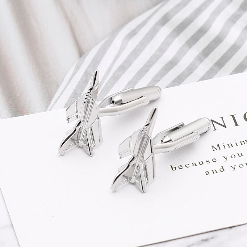 Military Fighter Jet Cufflinks