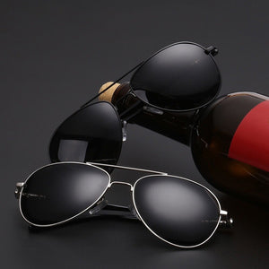 Aviation Metail Polarized Design Pilot Sunglasses
