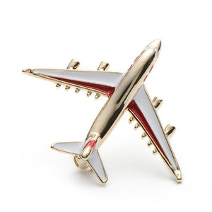 Red or Blue Airplane Brooch Pin