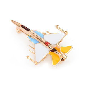 Military Fighter Airplane Brooch Pin