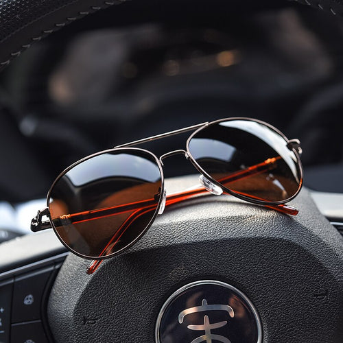 Aviation Polarized Spring Leg Sunglasses
