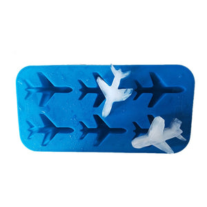 Silicone 3d Airplane Shape Ice Cube Mold