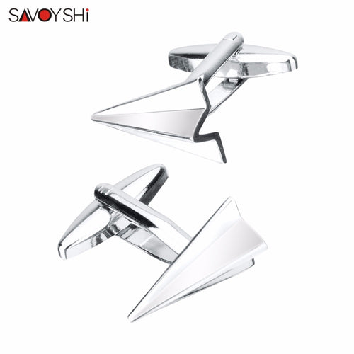 SAVOYSHI Paper Airplane Cufflinks