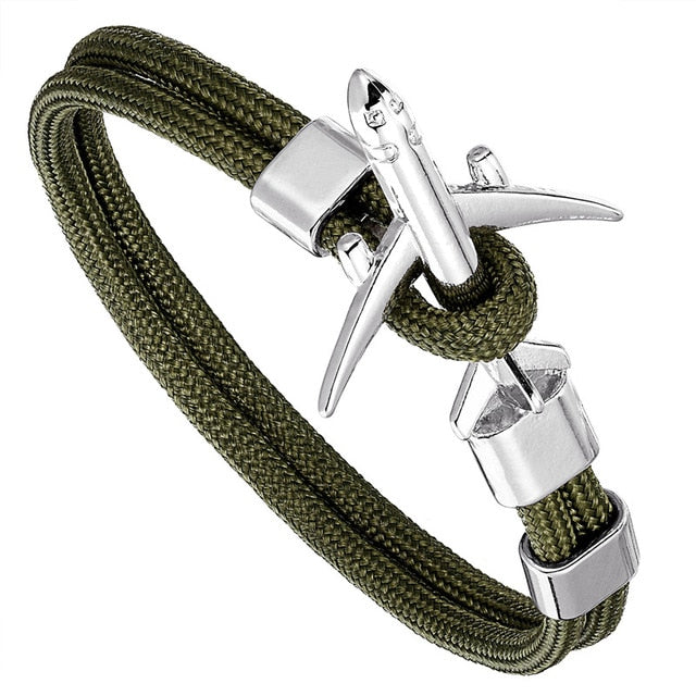 Airplane  Amulet Rope Chain Paracord Bracelet