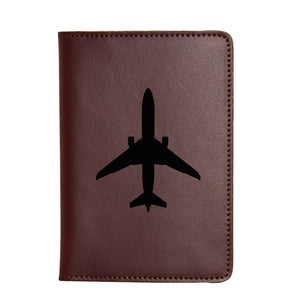 Engraved Airplane Passport Wallet for men and women