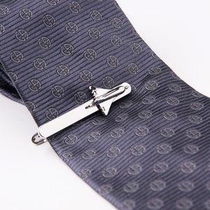 Matching Airplane Tie Clip and Cufflinks