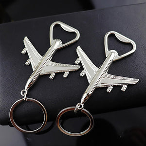 High Grade Airplane Keychain Bottle Opener