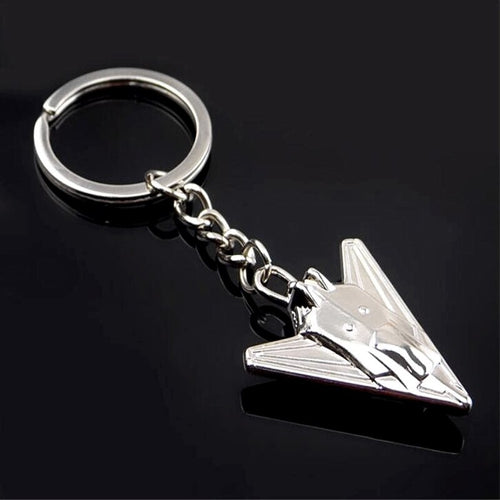 Stainless Steel Fighter Jet Keychain
