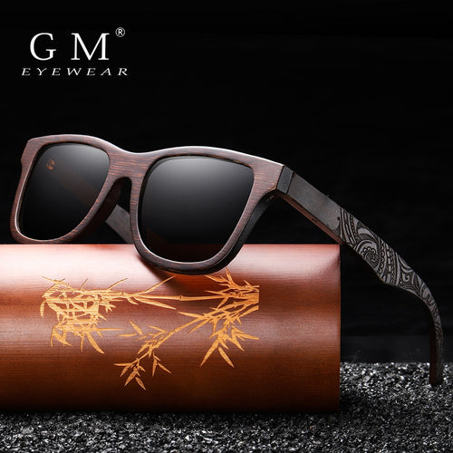 GM Handmade Natural Brown Wooden Unisex Sunglasses
