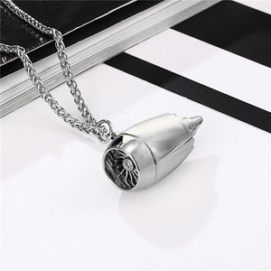 MKENDN Jet Engine Necklace Pendant