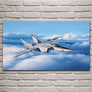 MiG 25 Fighter Plane Wall Art Poster for Home Decoration