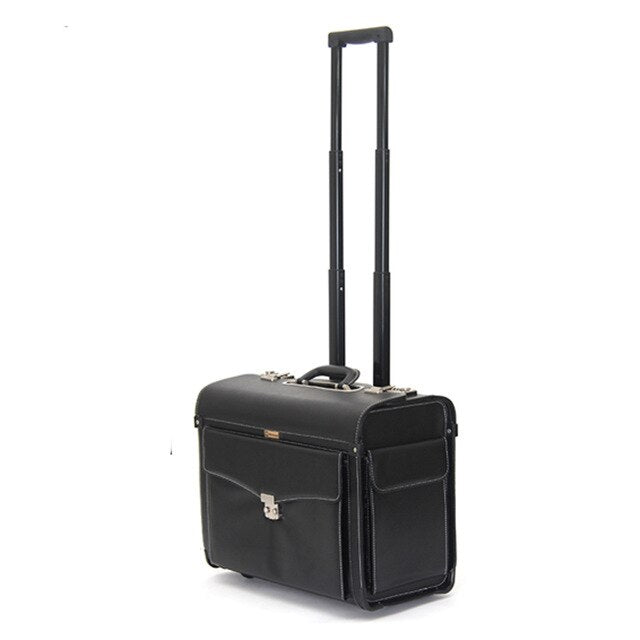 Airline Pilot Rolling Luggage