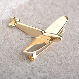 Simple Airplane Brooch or Collar Pin for Men and Women