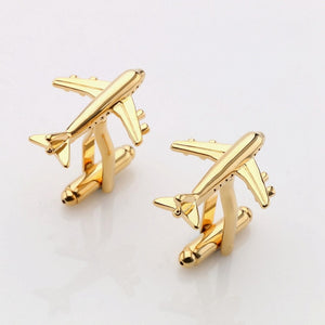 Lepton Airplane Cufflinks