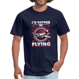 Men's T-Shirt, I'd Rather Be Flying - navy