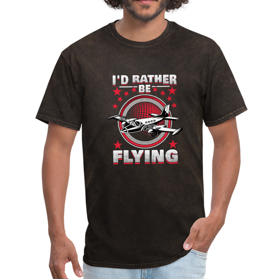 Men's T-Shirt, I'd Rather Be Flying - mineral black