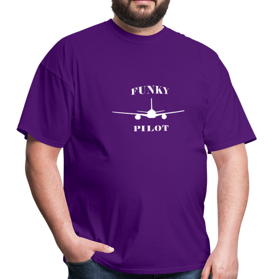 Men's T-Shirt, Low Wing Airplane - purple
