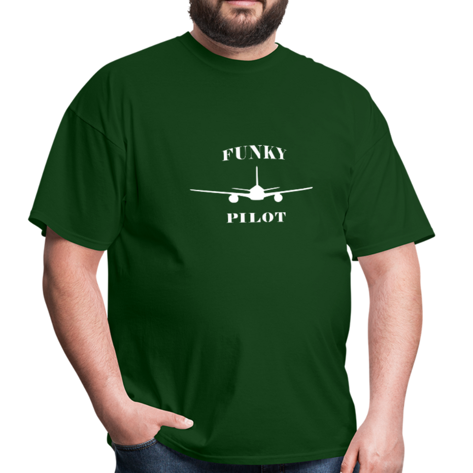 Men's T-Shirt, Low Wing Airplane - forest green
