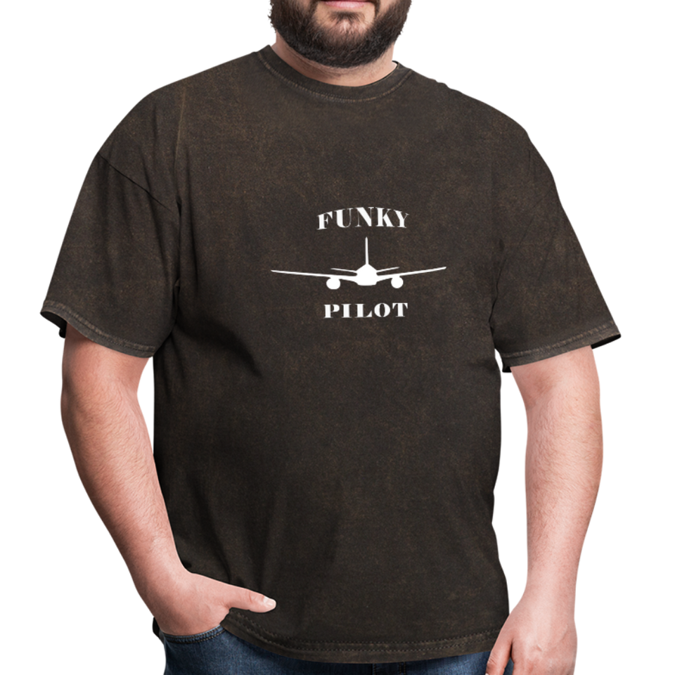 Men's T-Shirt, Low Wing Airplane - mineral black