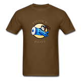 Men's T-Shirt, FunkyPilot Bunny - brown