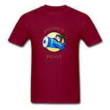 Men's T-Shirt, FunkyPilot Bunny - burgundy
