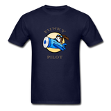 Men's T-Shirt, FunkyPilot Bunny - navy