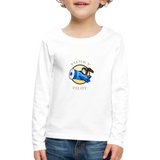 Kids' Premium Long Sleeve T-Shirt, FunkyPilot Bunny - white