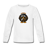 Kids' Premium Long Sleeve T-Shirt, Aviator Penguin - white