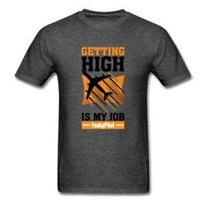 Men's T-Shirt, Getting High - heather black