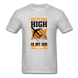 Men's T-Shirt, Getting High - heather gray