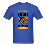 Men's T-Shirt, Getting High - royal blue