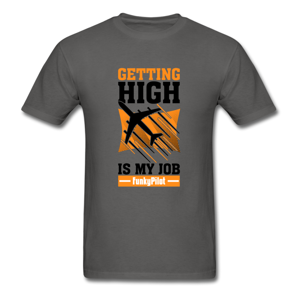 Men's T-Shirt, Getting High - charcoal