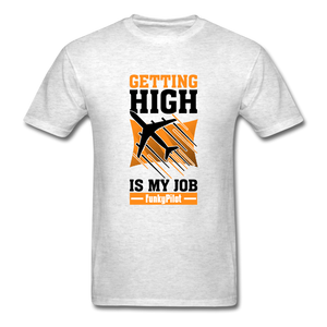 Men's T-Shirt, Getting High - light heather gray