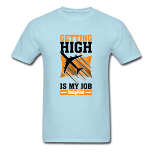 Men's T-Shirt, Getting High - powder blue