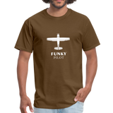 Unisex Classic T-Shirt, Single-Engine Airplane - brown