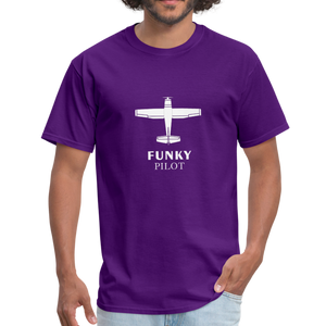 Unisex Classic T-Shirt, Single-Engine Airplane - purple