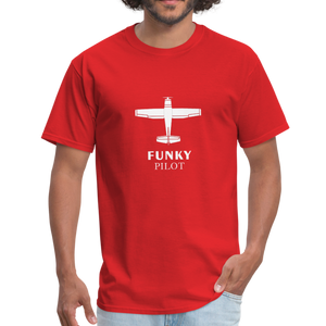 Unisex Classic T-Shirt, Single-Engine Airplane - red