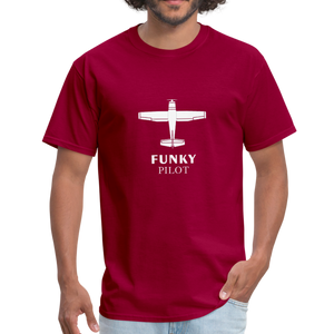 Unisex Classic T-Shirt, Single-Engine Airplane - dark red